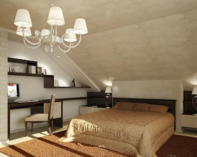 Скошенный потолок