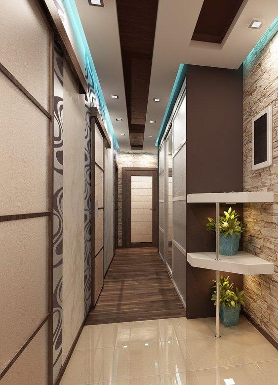 Дизайн прихожей с узким коридором фото