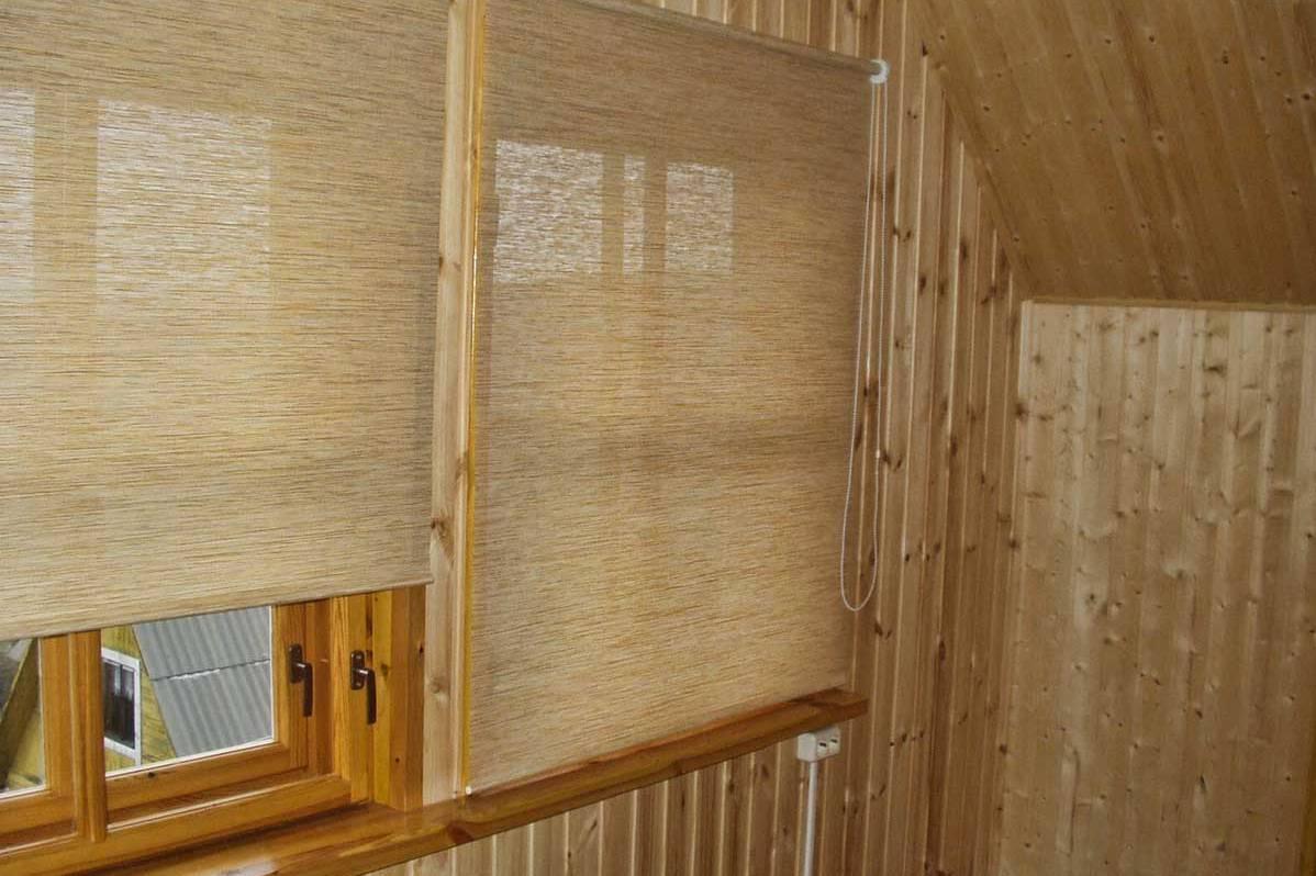 Рулонные шторы своими руками на деревянные окна