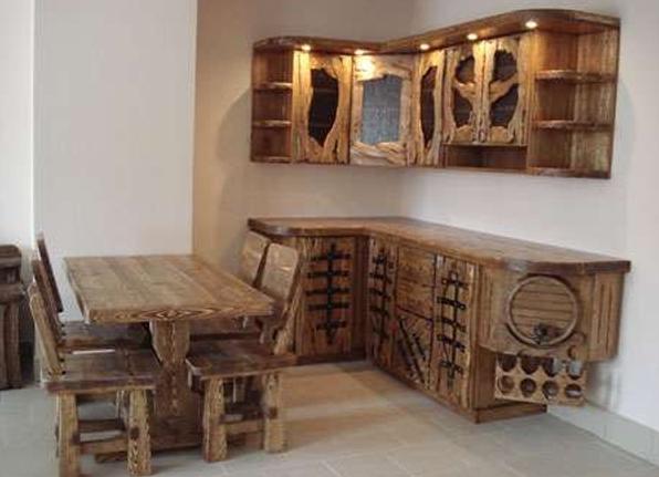 Кухонная мебель под старину своими руками