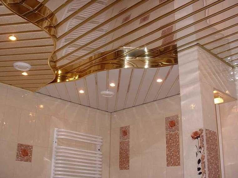 Навесные потолки своими руками в ванную