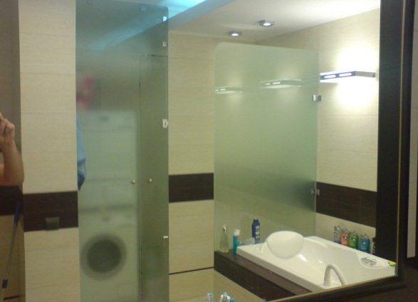 Как сделать стеклянную перегородку в ванной комнате - Mosstroyservice