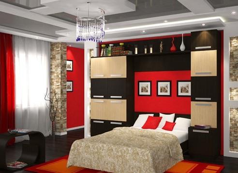 Дизайн стенка в спальню