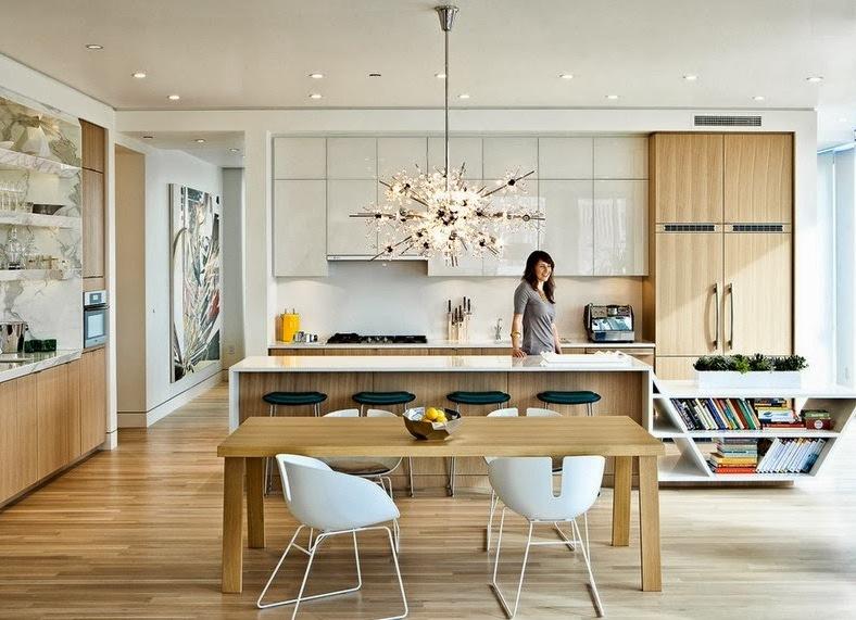 Контемпорари стиль в интерьере кухни фото