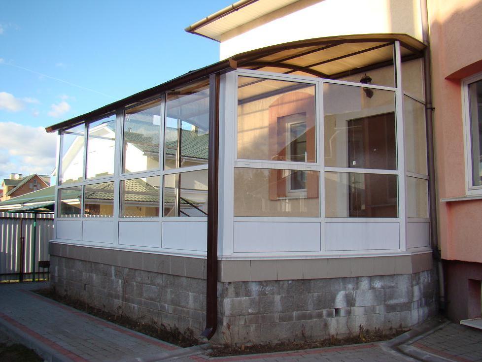 Закрытые террасы на даче фото