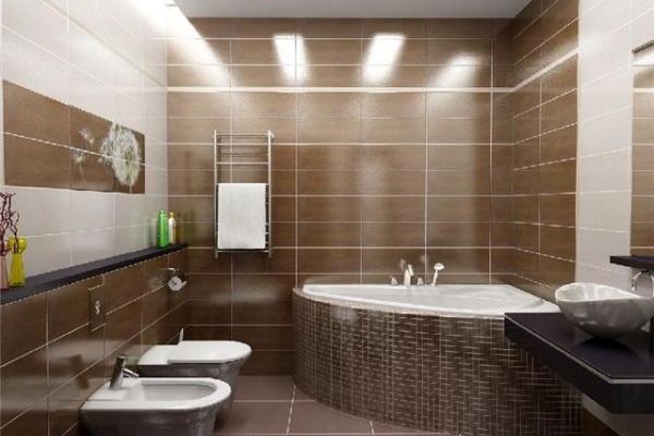 Варианты отделки ванной