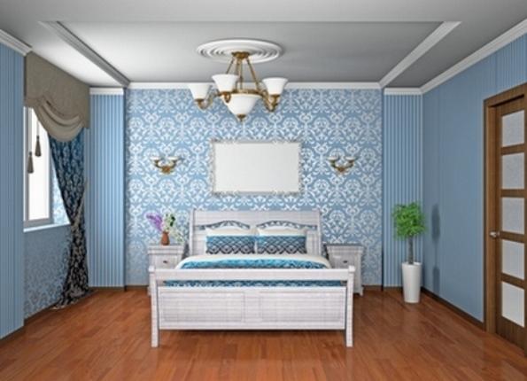 Обои компаньоны в спальне фото