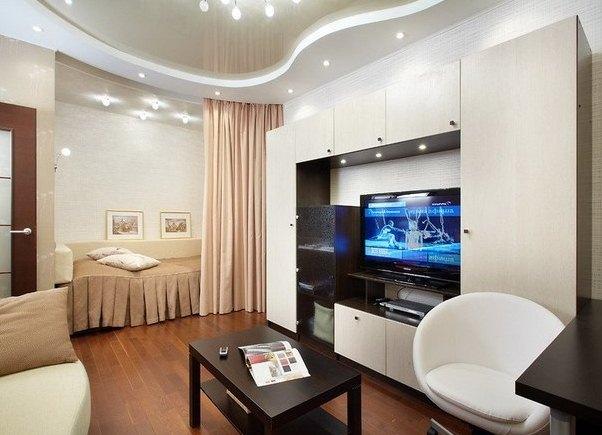 гостиная с нишей под телевизор фото