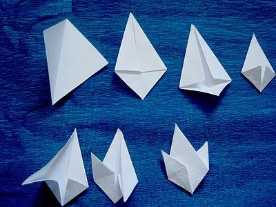 Подснежники из бумаги своими руками схемы
