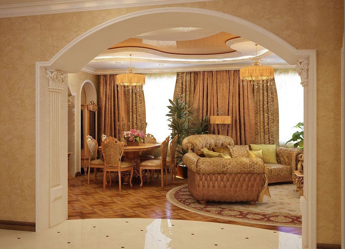 Фото дизайн арок в квартире из гипсокартона