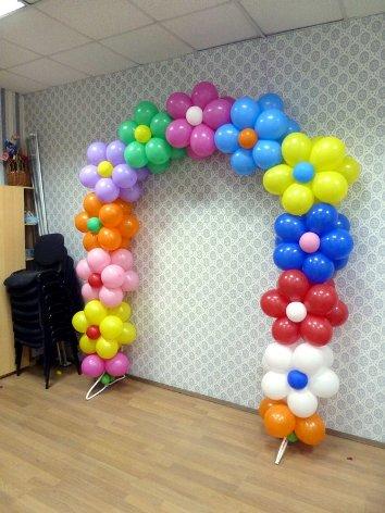 Украшение воздушными шарами своими руками видео