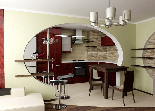 арка фото на кухне