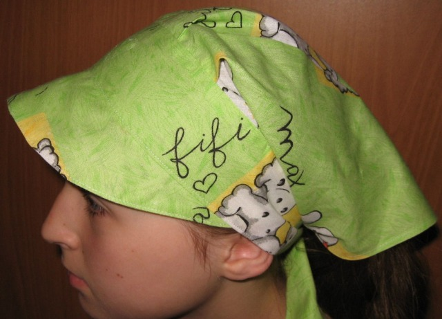 Бандана на голову для девочки своими руками