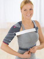 Бандаж на плечевой сустав и руку как одеть