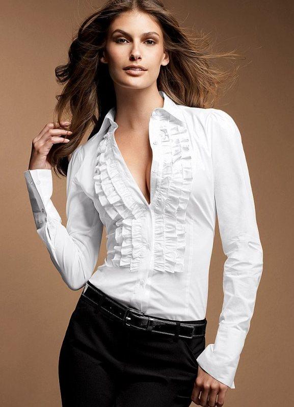 Модели Белых Блузок