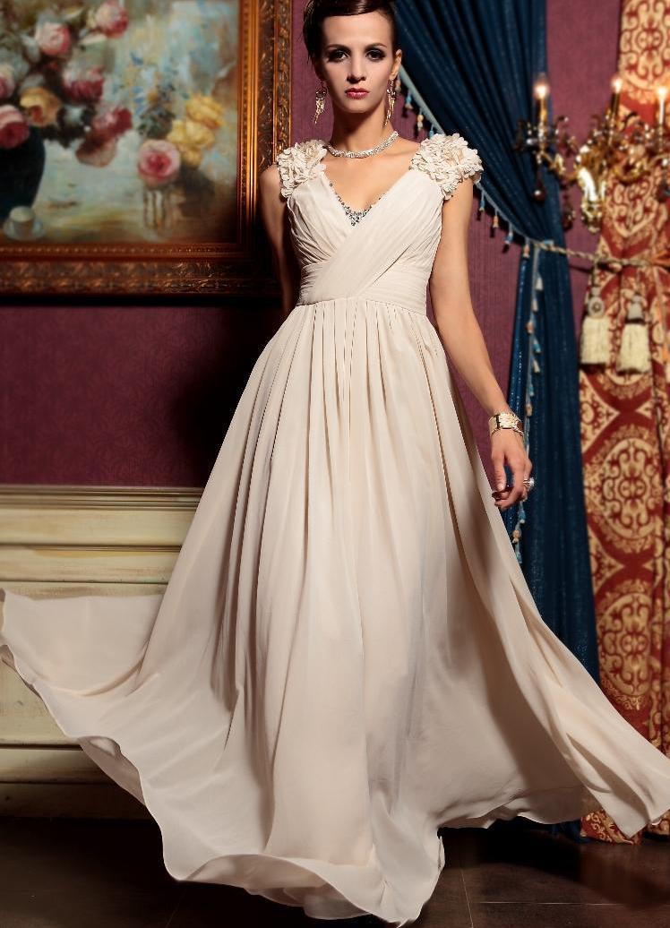 Золото бежевое платье