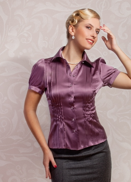 Красивые Классические Шелковые Блузки