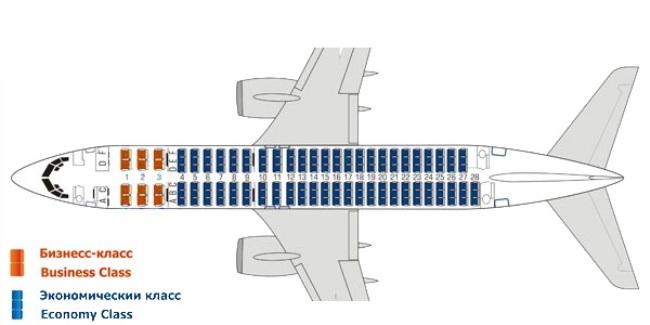 боинг 737 800 схема салона3