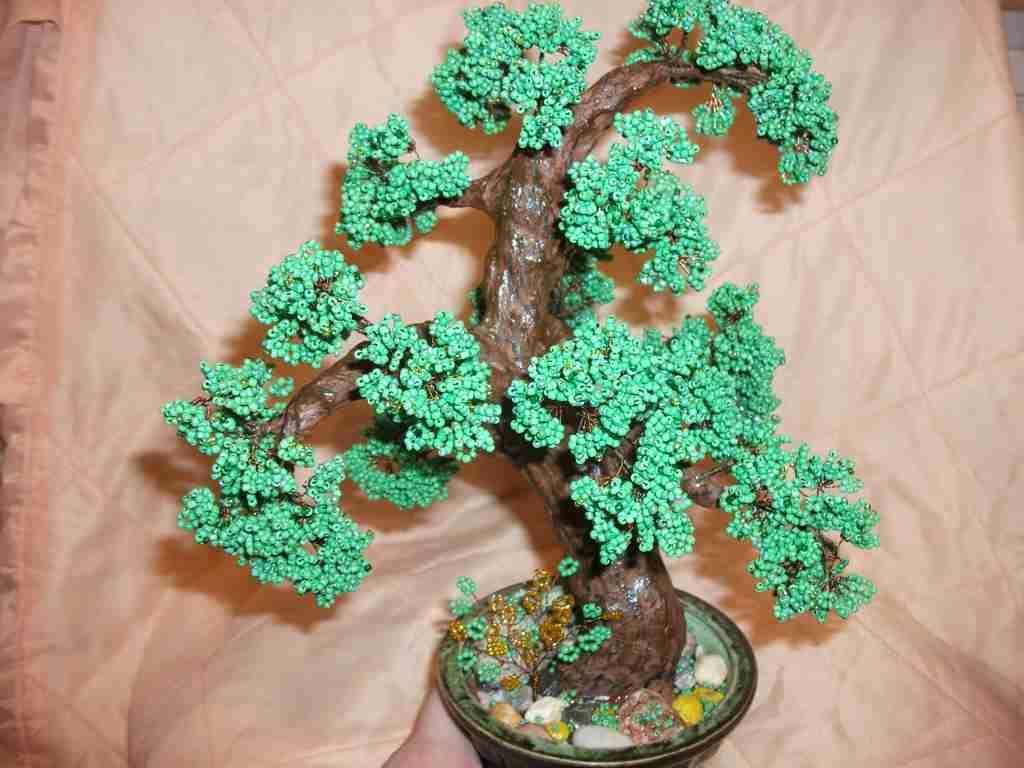 Дерево из бисера своими руками с фото