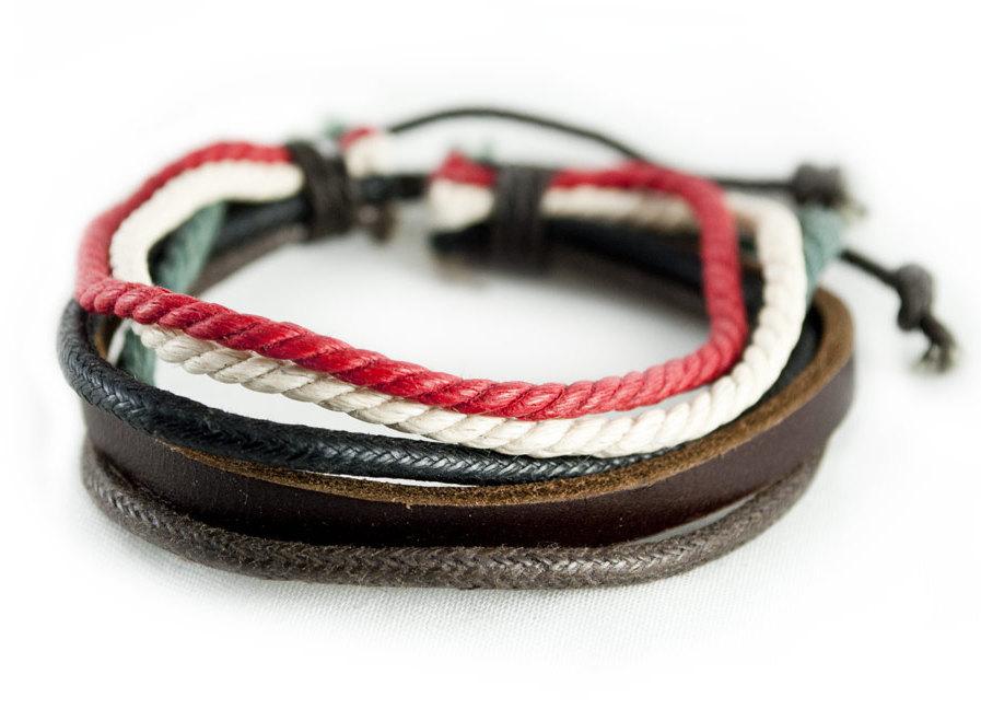 Браслеты из кожаного шнурка своими руками 604