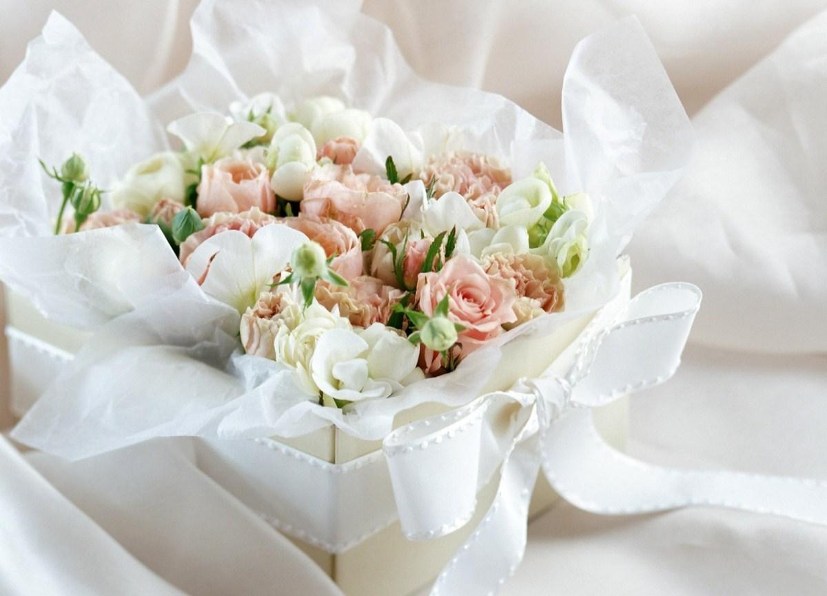 Свадебные цветы поздравленье