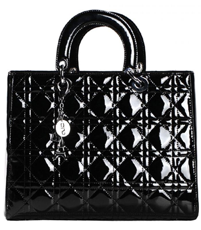 Лаковые черные сумки фото