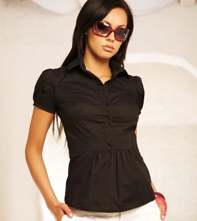 черные женские рубашки фото