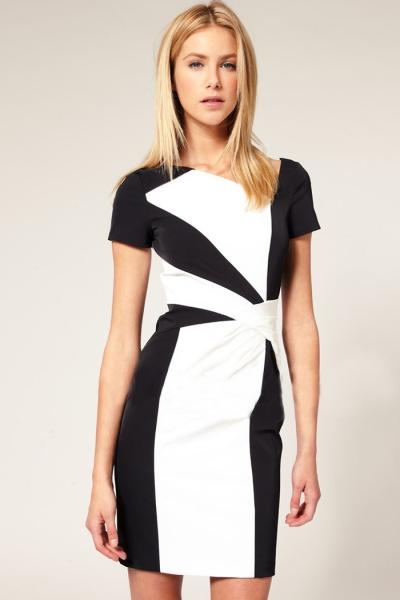 Черно белые картинки платье
