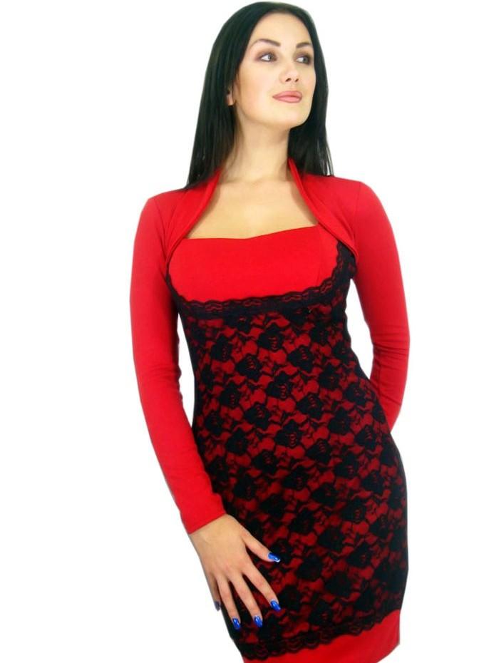 Элегантное черно красное