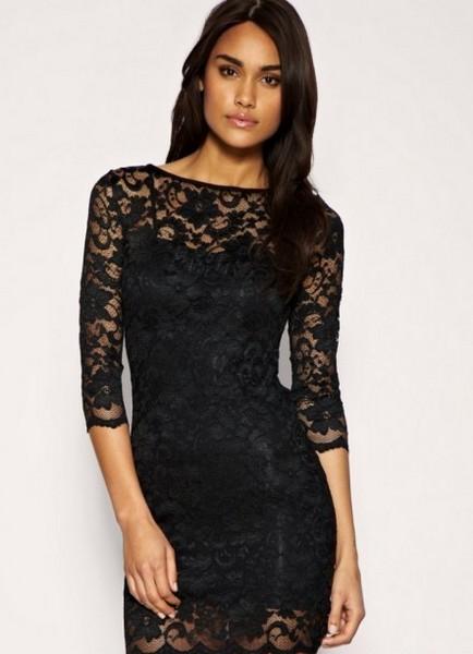 черное платье фото с кружевом