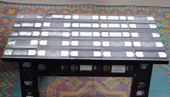 Поделки из видеокассетной ленты своими руками ютуб