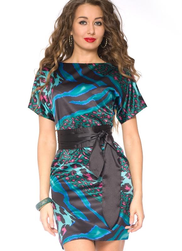 Цветные трикотажные платья фото