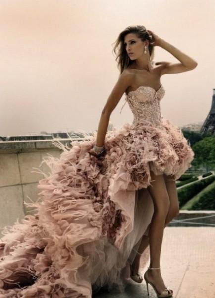 Короткие цветные свадебных платьев