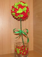 Цветочный топиарий из фетра