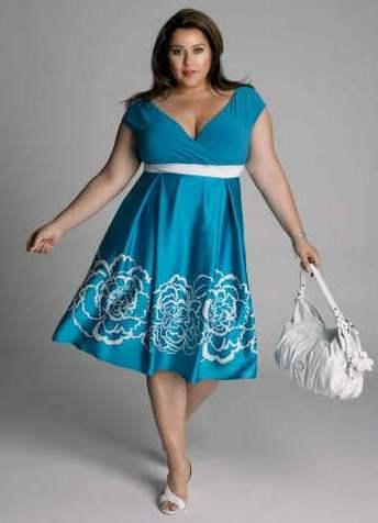 Фасон платьев для полных девушек в стиле