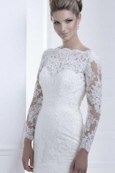 Ажурные свадебные платья 7