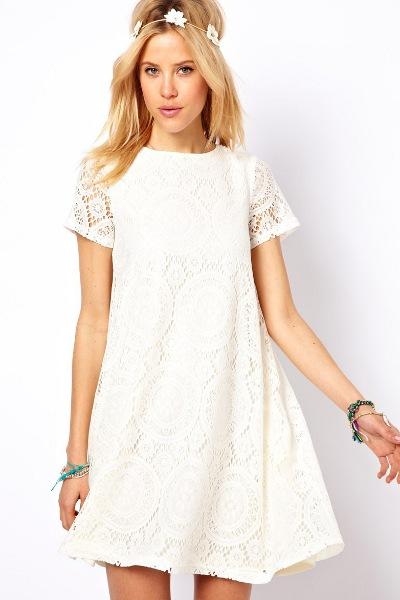 Белое Хлопковое Свадебное Платье 9