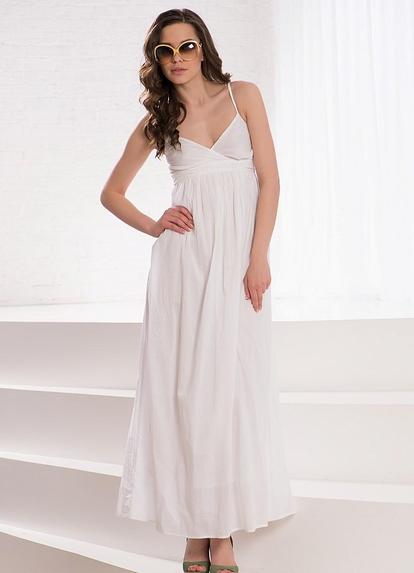Длинные белые сарафаны платья