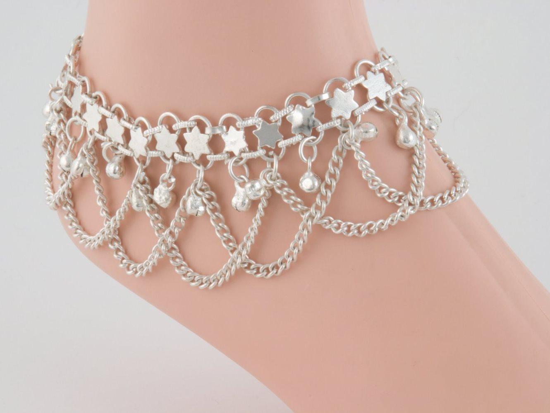 Серебряные браслеты на ногу купить