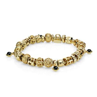 Золотой браслет на руку женский пандора
