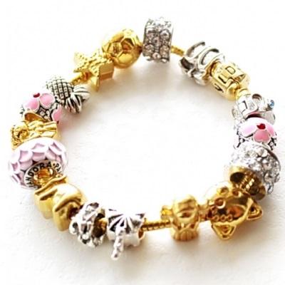 pandora золотой браслет