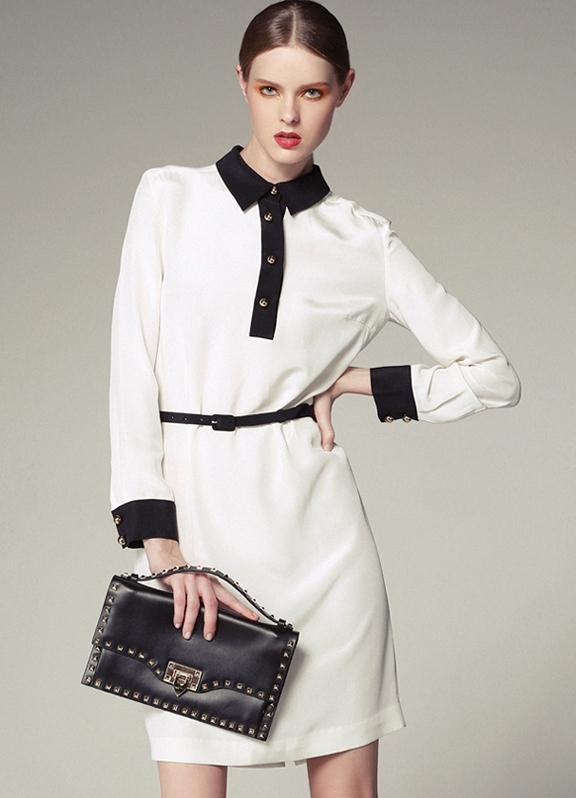 Платья / белое деловое платье в офис 2015