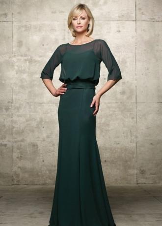 Модель длинного рукава платья