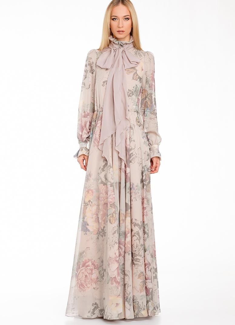 Как украсить платье с длинным рукавом