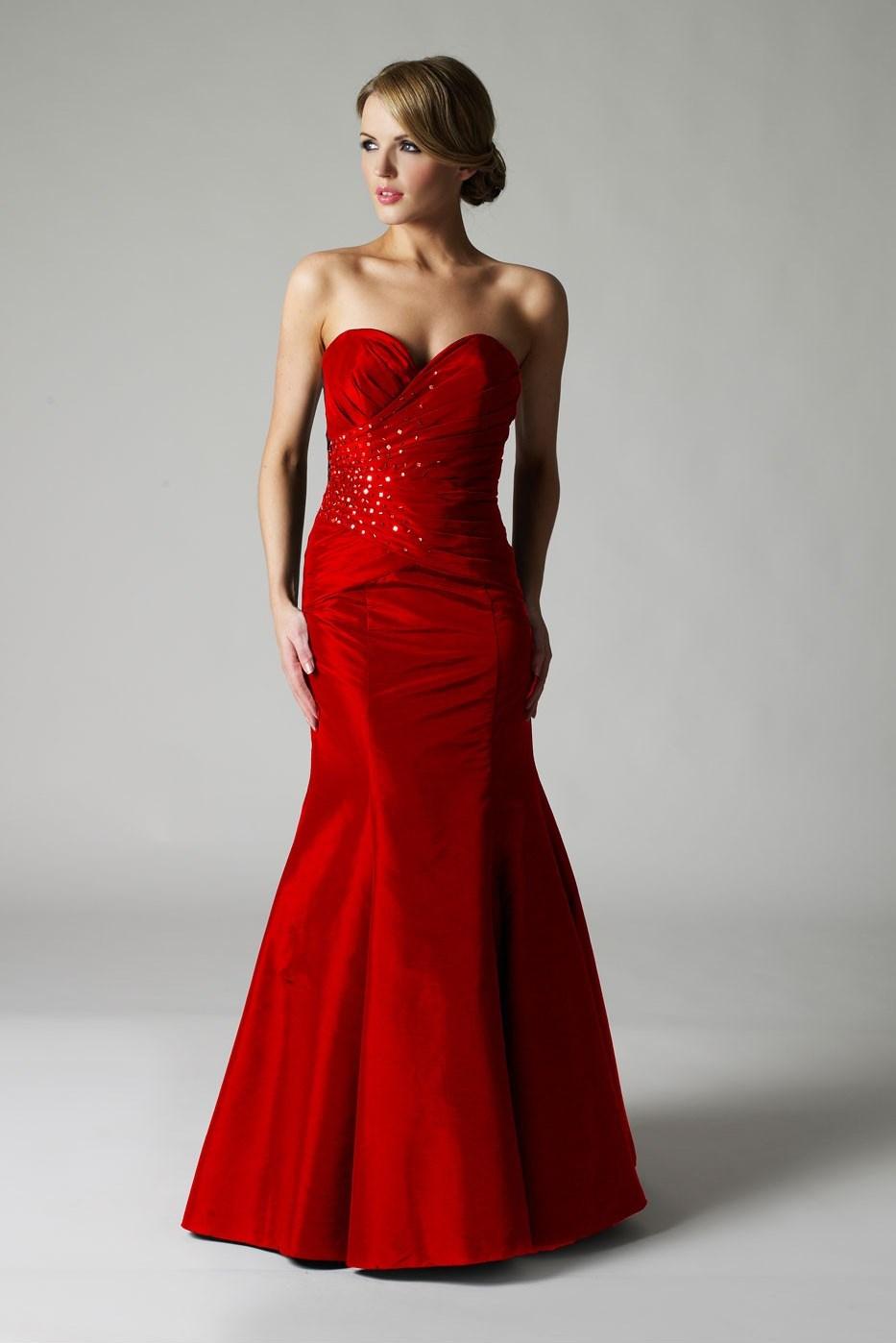 Вечерние длинные платья красный