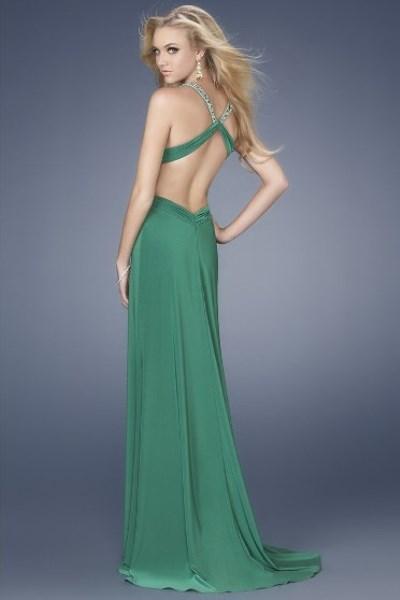 Платья с открытой спиной из шифона фото
