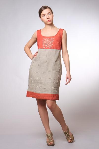Фасоны летних платьев из льна 4