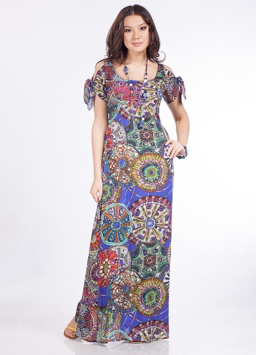 Фасоны длинных платьев на лето фото