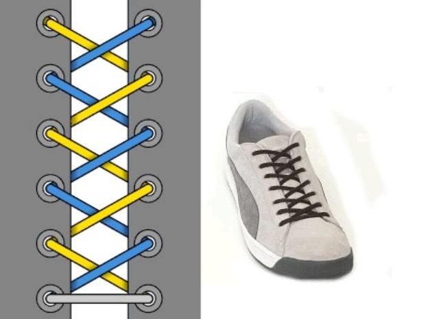 Как сделать красиво шнурки на кроссовках красиво