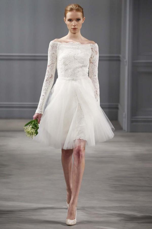 Короткие свадебные платья 2014 1